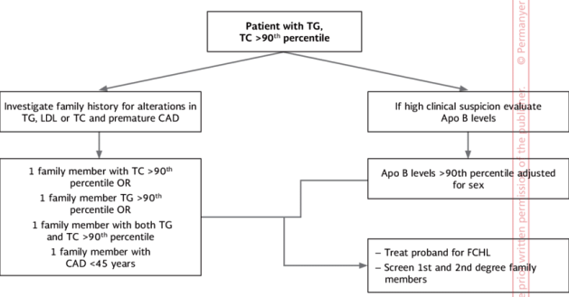 fh Proposed-updated-diagnostic-algorithm-for-FCHL-TC-total-cholesterol-TG-triglycerides