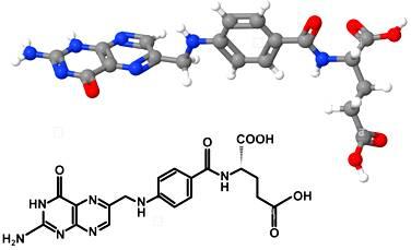 vit vitamin-b9-folic-acid-molecule-with-chemical-formula-isolated-on-white-DP9FNC